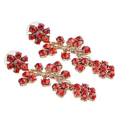 abordables Boucle d'Oreille-Femme Multicolore Boucle d'Oreille Pendantes Géométrique Ananas Européen Imitation Diamant Des boucles d'oreilles Bijoux Rouge Pour Quotidien 1 paire