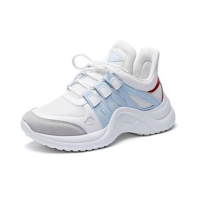 2019 Ultimo Disegno Per Donna Pu (poliuretano) Primavera Estate Sneakers Piatto Giallo - Blu - Rosa #07317791 Design Accattivanti;