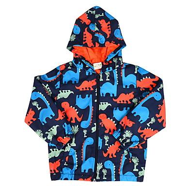 baratos Jaquetas & Casacos para Meninos-Infantil Para Meninos Moda de Rua Dinossauro Estampado Estampado Casaco Trench Azul