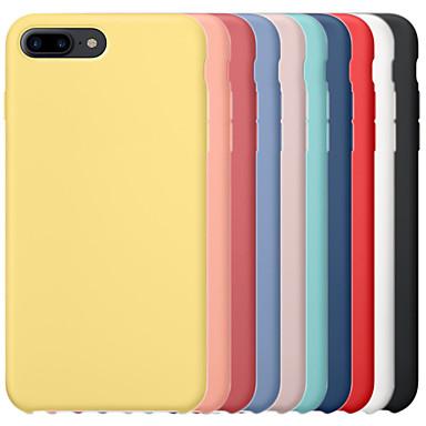 hesapli iPhone Kılıfları-Apple iphone 6 / iphone 6 artı iphone 6 s iphone7 iphone8 iphone7plusiphone8plus iphone x / xs / xsmas darbeye dayanıklı arka kapak için katı renkli sert pc / silika jel