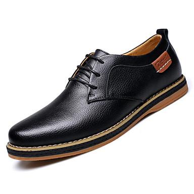 billige Shoes Trends-Herre Komfort Sko Lær Høst vinter Oxfords Svart / Blå