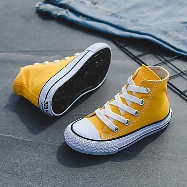 voordelige Babyschoenentjes-Jongens / Meisjes Comfortabel Canvas Sneakers Peuter (9m-4ys) / Little Kids (4-7ys) / Big Kids (7jaar +) Geel / Rood / Blauw Lente / Zomer / Rubber