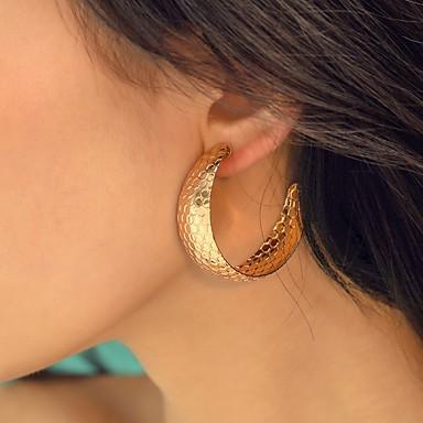 Damskie Geometryczny Kolczyki Kolczyki Prosty Europejskie Moda Nowoczesny Biżuteria Złoty / Srebrny Na Codzienny Ulica Praca Kij Bar 1 para