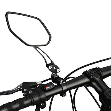 billige Sykkeltilbehør-Bakspeil Speil til sykkelstyre Justerbare Holdbar Stor baksynsvinkel 360° rotasjon Verneutstyr Til Fjellsykkel Foldesykkel Fritidssykling Sykling Aluminum Alloy PVC Svart