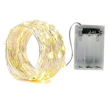 Недорогие LED ленты-ZDM водонепроницаемый 3 м 30 светодиод 3aa батарея фея струнные огни светлячков рождественские декорации рождественские огни многоцветный