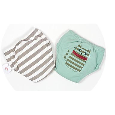 baratos Cuecas & Meias para Meninos-2pçs Bébé Para Meninos Activo Básico Listrado Estampado Algodão Roupa Íntima & Meias Cinzento