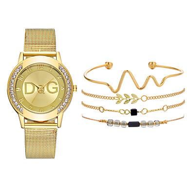 baratos Relógios Senhora-Mulheres Relógios de Quartzo Luxo Nova chegada Prata Dourada Aço Inoxidável Quartzo Dourado Prata Cronógrafo Fofo Relógio Casual 1conjunto Analógico Um ano Ciclo de Vida da Bateria