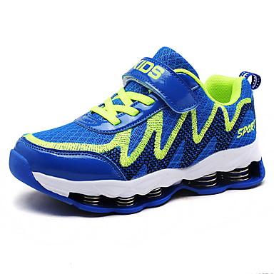 baratos Sapatos de Criança-Para Meninos Tricô Tênis Little Kids (4-7 anos) / Big Kids (7 anos +) Conforto Corrida Preto / Azul Verão / Outono