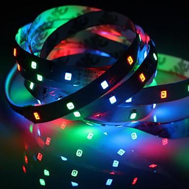tanie Taśmy LED-1pp ip20 rgb 300 taśmy led 5m 60leds / m smd 2835 biały ciepły biały żółty czerwony zielony niebieski pasek led 12v linkable / samoprzylepne / tv tło elastyczna taśma lina pasek