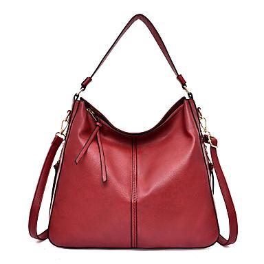 1d6d06f784 Γυναικεία Τσάντες PU Τσάντα χειρός Συμπαγές Χρώμα Μαύρο   Ρουμπίνι   Καφέ