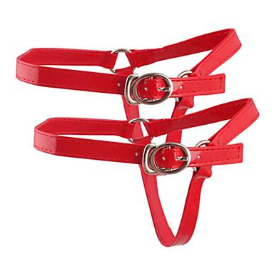 baratos Cadarços-1 Peça PU Leather Cadarços Mulheres Verão Diário Prateado / Vermelho / Nú