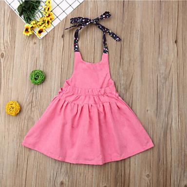 7e8839271c olcso Bébi ruhák-Baba Lány Boho Egyszínű Ujjatlan 50-60 cm Pamut Ruha Arcpír