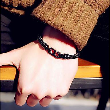 abordables Bracelet-Bracelet d'amitié Femme Empiler Lolita Ōji (Style Garçon Manqué) Bracelet Bijoux Noir Argent pour Entraînement