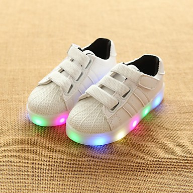voordelige Babyschoenentjes-Meisjes Oplichtende schoenen PU Sneakers Peuter (9m-4ys) / Little Kids (4-7ys) / Big Kids (7jaar +) Wit / Zwart / Roze Zomer / Rubber