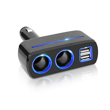 voordelige Automatisch Electronica-auto sigarettenaansteker splitter socket plug USB-oplader