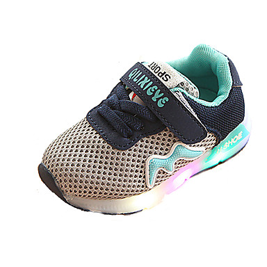 voordelige Babyschoenentjes-Meisjes Oplichtende schoenen Synthetisch Sportschoenen Peuter (9m-4ys) / Little Kids (4-7ys) Hardlopen / Wandelen Zwart / Grijs / Roze Zomer / Rubber