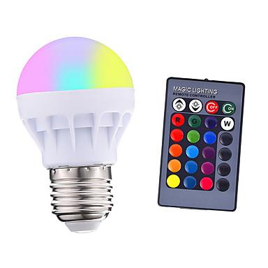 abordables Ampoules électriques-1pcs 3 w 200-250 lm e26 / e27 led ampoules intelligentes 1 led perles smd 5050 parti télécommandé décoratif rgbw 85-265 v