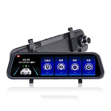 abordables DVR de Voiture-K50 720p / 1080p HD DVR de voiture 170 Degrés Grand angle CMOS 10 pouce IPS Dash Cam avec Vision nocturne / G-Sensor / Mode Parking Enregistreur de voiture