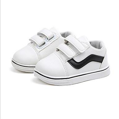 baratos Sapatos de Criança-Para Meninos Sintéticos Tênis Crianças (0-9m) Conforto Branco / Preto / Vermelho Primavera / Verão