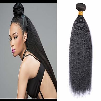 voordelige Weaves van echt haar-6 bundels Braziliaans haar KinkyRecht 100% Remy haarweefselbundels Menselijk haar weeft Bundle Hair Een Pack Solution 8-28inch Natuurlijke Kleur Menselijk haar weeft Waterherfst Schattig Veiligheid