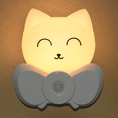 1kpl LED Night Light Lämmin valkoinen USB Etäohjattu / Luova <=36 V