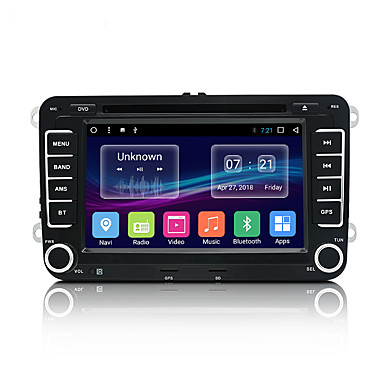 povoljno DVD playeri za auto-JUNSUN 2531.A 7 inch 2 Din Android 7.1 U-crtica DVD player / Car MP5 Player / Auto MP4 Player GPS / MP3 / Ugrađeni Bluetooth za Volkswagen / Škoda / Sjedalo Mini USB podrška MP3 / WMA GIF / BMP / PNG