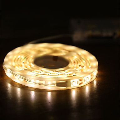 billige LED Strip Lamper-2m stripe lys 120 leds 2835smd varm hvit søt / cuttable / dekorative aa batterier drevet 1set