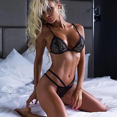 Bayan Yetişkin Seksi Üniformalar İç Çamaşırı İç Giyim / Dantel / Dantel