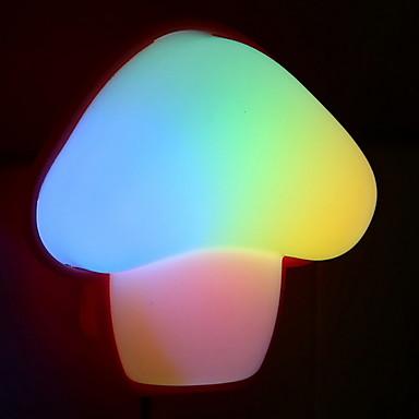 1pc תקע קיר לילה אור פטריות צבע שינוי יצירתי 220-240 v