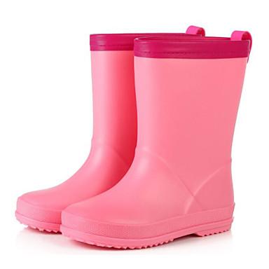 בנות מגפי גשם גומי מגפיים ילדים קטנים (4-7) / ילדים גדולים (7 שנים +) צהוב / כחול / ורוד אביב / מגפיים באורך אמצע - חצי שוק