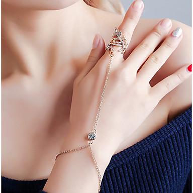 levne Dámské šperky-Dámské Náramky Geometrické Botanický motiv Moderní Slitina Náramek šperky Zlatá / Stříbrná Pro Karneval Dovolená Klub