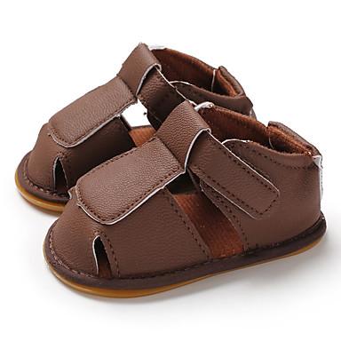 בנים / בנות צעדים ראשונים PU סנדלים תינוקות (0-9m) / פעוט (9m-4ys) שחור / כחול כהה / חום קיץ / גומי
