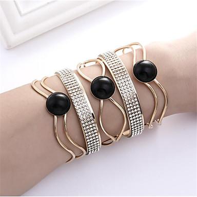 abordables Bracelet-Manchettes Bracelets Femme Résine Content Mode Bracelet Bijoux Noir Café Demi-cercle pour Cadeau Quotidien