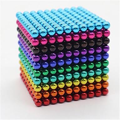 billige Leker og hobbyartikler-1000 pcs 5mm Magnetiske leker Magnetiske kuler Byggeklosser Supersterke neodyme magneter Neodym-magnet Neodym-magnet Magnetisk Stress og angst relief Office Desk Leker Lindrer ADD, ADHD, angst
