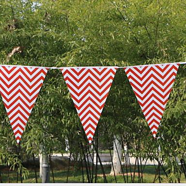 קישוטים לחג חגים ומועדים משוך את הדגל Party אדום 1pc