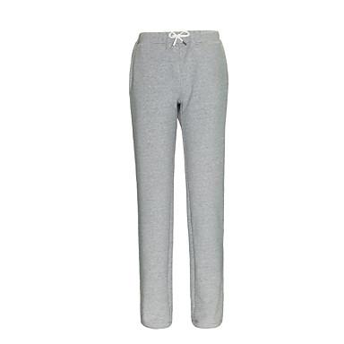SCALER® בגדי ריקוד גברים # מכנסי ריצה שרוך מכנסיים שמור על חום הגוף ייבוש מהיר צבע אחיד / כותנה / מיקרו-אלסטי