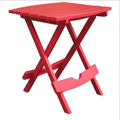 שולחן צד מתקפל עבור מדשאה בחוץ פטיו שרף עמיד אדום דובדבן