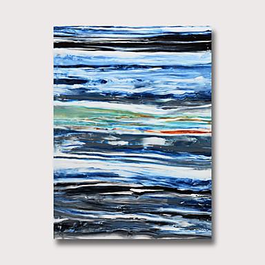 ציור שמן צבוע-Hang מצויר ביד - מופשט וינטאג' מודרני ללא מסגרת פנימית