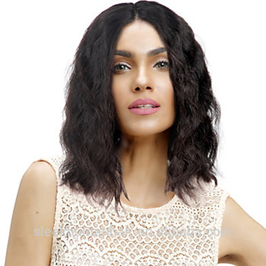 שיער אנושי חזית תחרה פאה חלק חינם בסגנון שיער ברזיאלי גלי שחור פאה 130% צפיפות שיער נשים בגדי ריקוד נשים ארוך אחרים Clytie