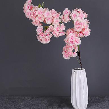 פרחים מלאכותיים 1 ענף קלאסי מסורתי סגנון מינימליסטי סאקורה פרחים נצחיים פרחים לרצפה