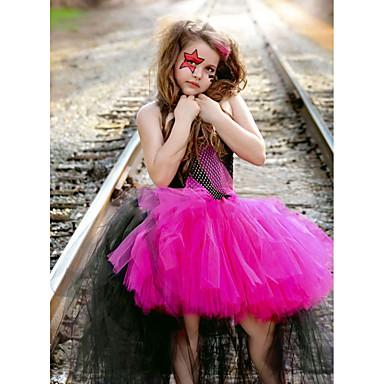 رخيصةأون ملابس الفتيات-فستان بدون كم لون سادة أسود للفتيات أطفال / طفل صغير