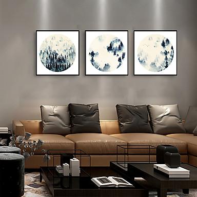 דפוס אומנות ממוסגרת סט ממוסגר - L ו-scape רוחני פוליסטירן איור וול ארט