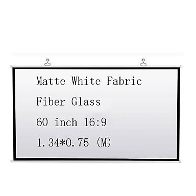 16:9 60 אִינְטשׁ סיב זכוכית מסך על מעמד מהקיר