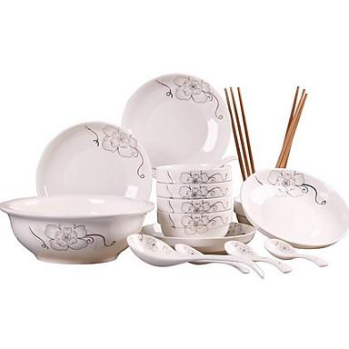 1set סטים לארוחות כלי אוכל כלי חרס יצירתי