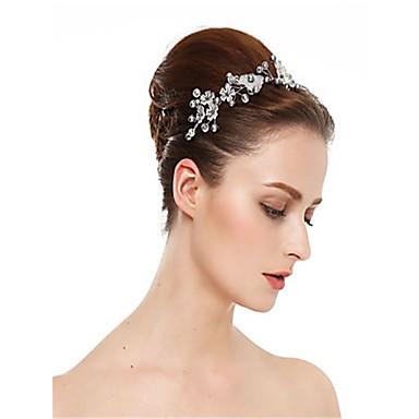 abordables Coiffes-Imitation de perle / Résine / Alliage avec Cristal / Imitation Perle / Fleur 1 Pièce Mariage Casque