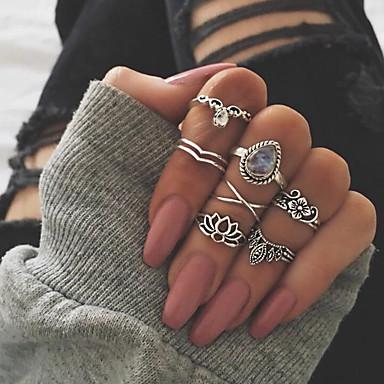 billige Motering-Dame Ring Set / Midiringe / Stable Ringer 7pcs Gull / Sølv Opal / Legering Unikt design / Bohemsk / Etnisk Gave / Daglig / Karneval Kostyme smykker