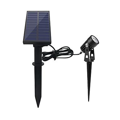 billige Utendørsbelysning-1pc 1 W LED-lyskastere / plen Lights Vanntett / Solar / Dekorativ Hvit 5.5 V Utendørsbelysning 1 LED perler