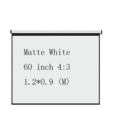 4:3 60 אִינְטשׁ לבן מקסימלי מסך על מעמד מהקיר