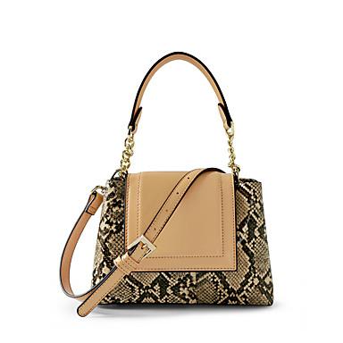 preiswerte Taschen-Damen Reißverschluss / Geprägt Tasche mit oberem Griff Wasserdicht PU / Baumwolle Einfarbig Schwarz / Khaki / Schlangenhaut