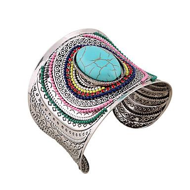 abordables Bracelet-Large bracelet Femme Tropical Boule Artistique Luxe Bracelet Bijoux Turquoise pour Quotidien Vacances Festival